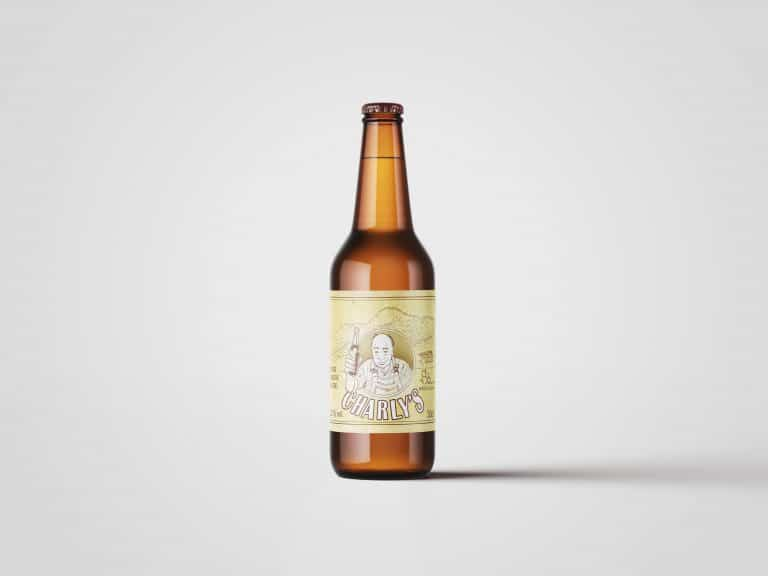 Étiquette illustrée pour une bière avec dessin personnalisé