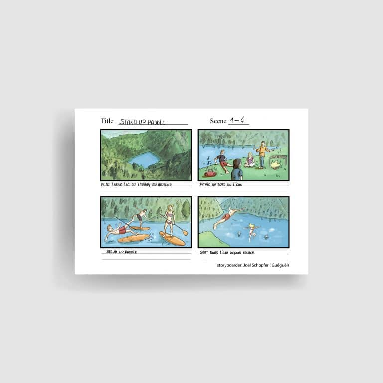 Storyboards illustration illustrateur valais suisse