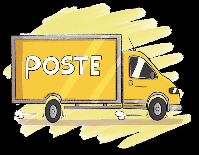 livraison commande illustration personnalisée