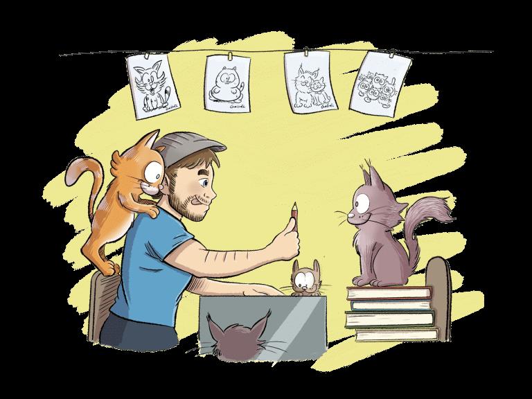 Stand d'animation avec illustrations pour vos mariages et autres évènements
